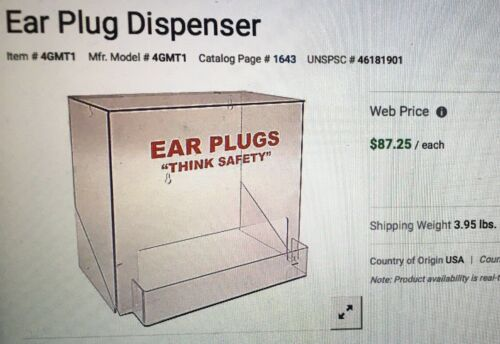 Brand Name 4GMT1 200 Pair Capacity Ear Plug Dispenser