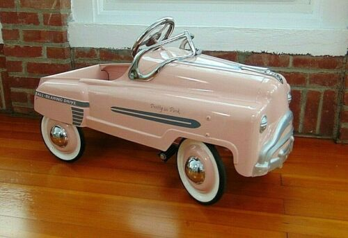 """CONTEMPORARY """"PRETTY in PINK"""" PEDAL CAR, BALL BEARING DRIVE, FULL SIZE PEDAL CAR"""