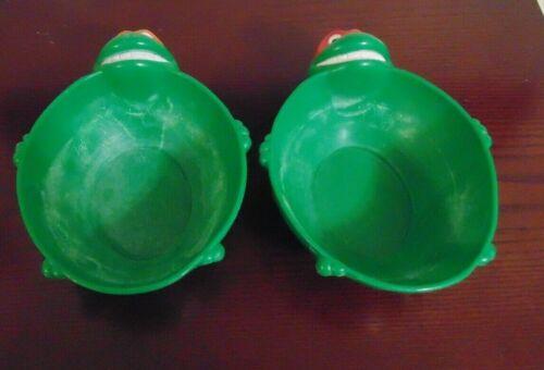 2 - 1990 Teenage Mutant Ninja Turtles Michelangelo Raphael Cereal Bowls