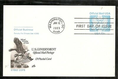 US SC # UZ2 Official Mail, Great Seal FDC. Artcraft Cachet.