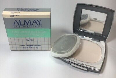 Almay Oil Control Pressed Powder Oily Skin Fragrance Free Translucent -