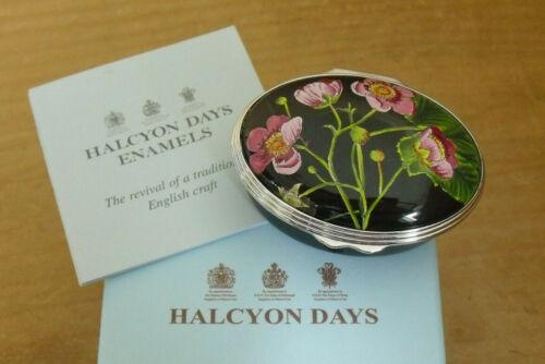 "Boxed Halcyon Days/British Museum ""Rubus Odoratus"" - Mrs Delaney Enamel Box"