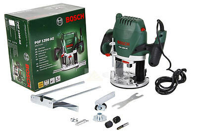 "BOSCH 1200w 1/4""/6mm/8mm Variable Speed Plunge Router Kit 240v POF1200AE"