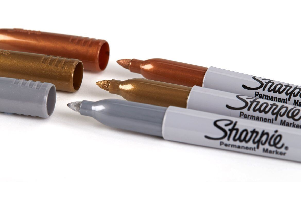 Sharpie Metallic Fine Point Bullet Tip Permanent Marker Pens Gold Silver Bronze