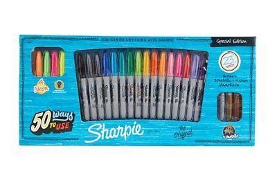 Sharpie Special Edition Set of 23 Colours Permanent Marker Pens Neon Metallic
