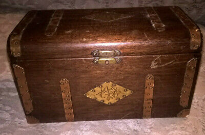 SMALL WOODEN CHEST TRINKET BOX  - TALLENT HANDMADE WOODCRAFT