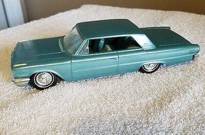 Vintage 1963 Blue Ford Galaxie Promo Model Car Dealer