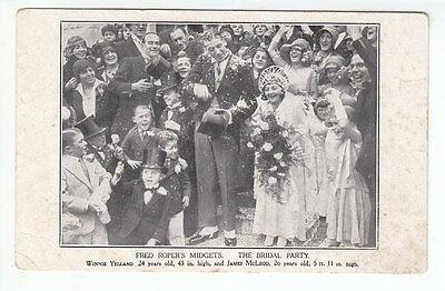 Fred Ropers Midgets Bridal Party Winnie Yelland James McLeod c1932 Haycock Press