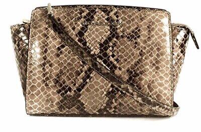 NWOT Michael Kors Selma Medium Crossbody Messenger Bag Python Embossed ()