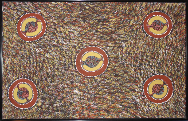 Top Aboriginal Artist Maxie Tjampitjinpa from Australia - Women's Dream, Rare!