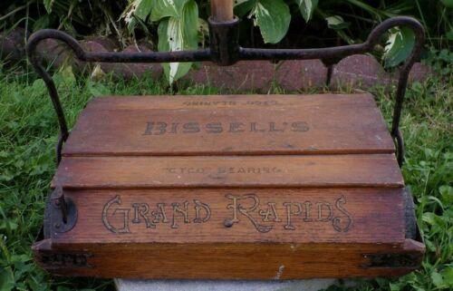 Vintage Bissel Cyco Bearings Carpet Sweeper Wooden