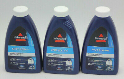 BISSELL 2X Spot & Stain for Portable Machine Formula (3) 8oz Bottles 24oz (Bissell 2x Spot & Stain Portable Machine Formula)