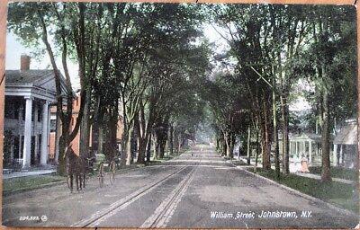 Johnstown  Ny 1910 Postcard  William Street  Residential   New York