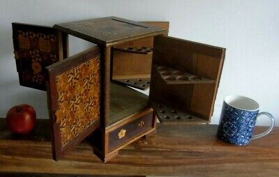 Used, JAPANESE CIGAR BOX CABINET CASE PARQUETRY PIPE for sale  Shipping to South Africa