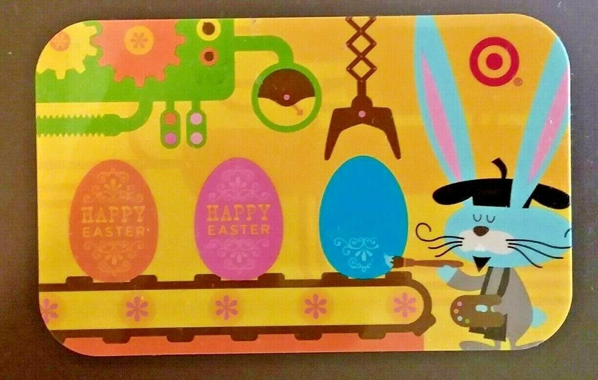 2008 Target Gift Card EASTER EGG FACTORY Painting Bunny No Value - $2.99