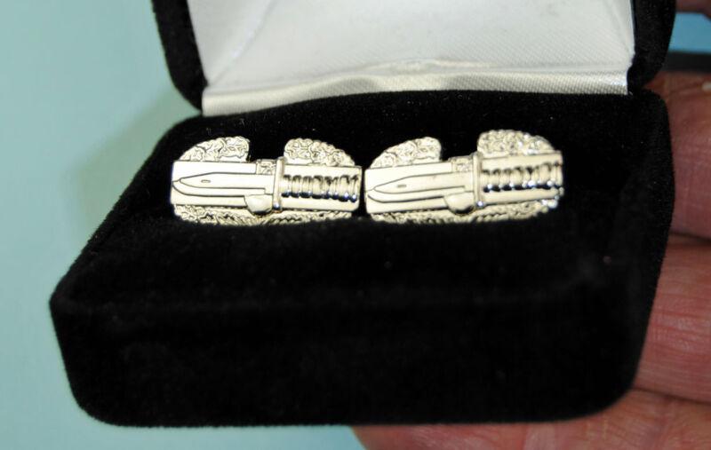 Combat Action Badge Cuff Links - Army CAB cufflinks