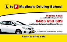 L to P Madina's Driving School-Female D/I South East Suburbs Hampton Park Casey Area Preview