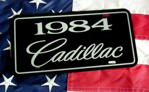 1984 Cadillac license plate tag 84 Caddy Coupe DeVille Seville Fleetwood Eldo