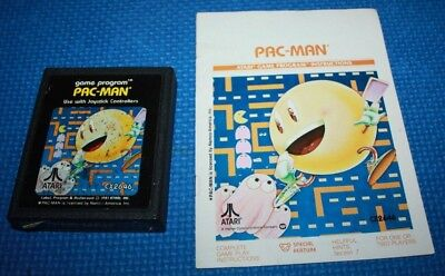 Atari 2600 Cart and Manual: Pac-Man by Atari. #4 Picture Label, used for sale  Cold Lake