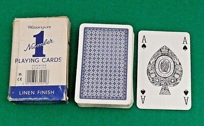 Vintage Collictable Waddingtons Number 1 Playing Cards made in England ANTIQUE , used for sale  Sunland
