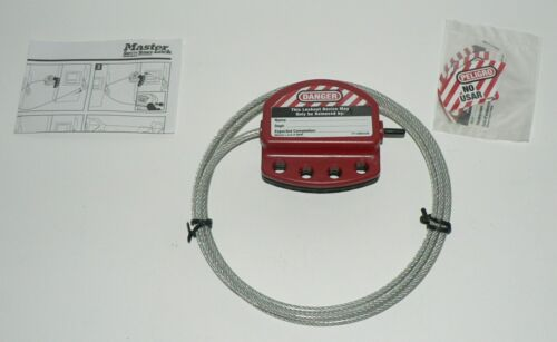 Master Lock S806 4mm x 6 feet (1.8 M) Adjustable Lockout Cable Hasp