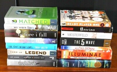 HUGE Lot 15 HBPB Best Selling Teen/Young Adult Novels John Green Asher YA (Best Selling Ya Novels)