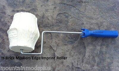 Concrete Landscape Curbing H-brick Mower Edge Imprint Texture Roller Stamp New