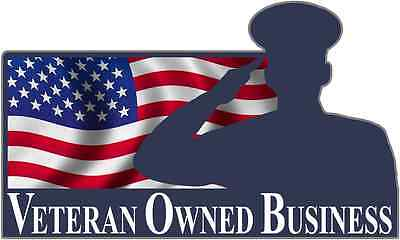 """Veteran Owned Business Sticker Decal Army Navy Air Force Marines Retired 3"""" x 5"""""""