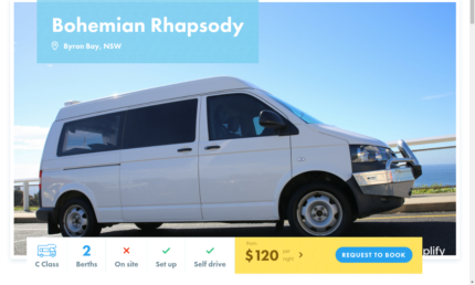 2 Berth Motorhome FOR HIRE in Byron Bay from $120/night