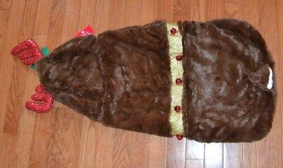 Rudolph Reindeer Jingle Bells Plush Christmas Outfit Holiday Costume Size XL XXL (Xl Xxl Hund Kostüme)