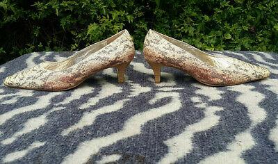 Vintage Högl Snakeskin Pattern Leather Shoes UK size 5.5 EU 38.5