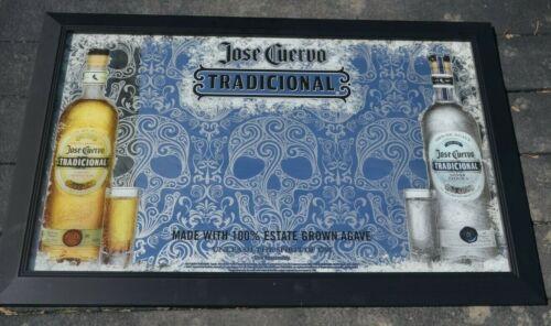 Vintage Jose Cuervo Tradicional Tequila Mirror Sign 3ft x 2ft Unleash the spirit