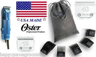 Oster A5 Turbo Clipper KIT-10,40 Blades&5 Guide Comb Set-Dog Pet Horse Grooming