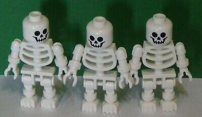 Lot of 3 Lego Minifigures - SKELETONS - HAPPY HALLOWEEN