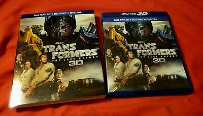 Transformers: The Last Knight (3-Disc 3D & 2D Blu-ray/DVD) Like New w/ Slip !