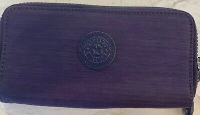 Kipling Dazz Purple Zip Around Wallet K1319879W NWT