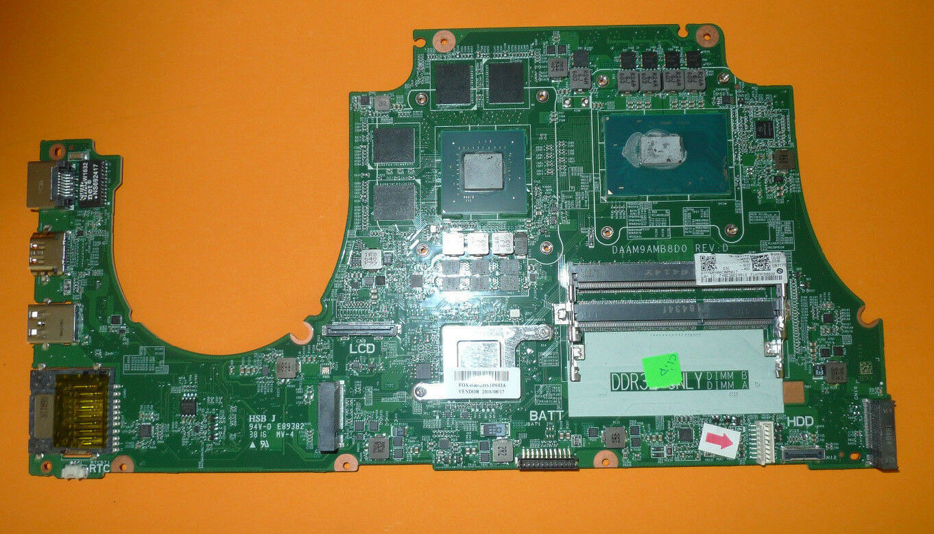 AUTHENTIC Dell Inspiron 7559 Laptop Motherboard DDR3L i7-6700HQ GTX960M MPYPP
