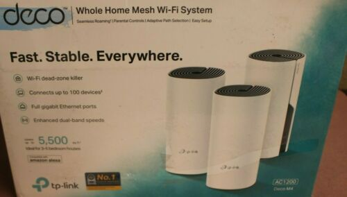 TP-LINK Deco M4 Whole Home Mesh WiFi System (3-pack) AC1200