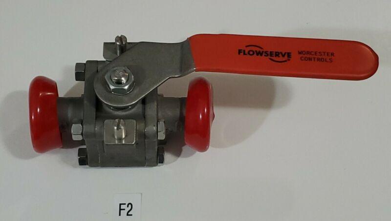 "*NEW* Flowserve WK7466TTC Stainless Steel 1"" NPT Ball Valve 316L + Warranty!"