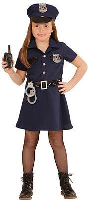 Retro Police Girl Kinderkostüm NEU - Mädchen Karneval Fasching Verkleidung Kostü ()