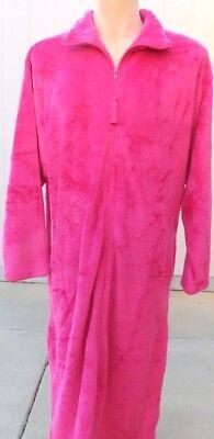 Full Length Robe (Super Plush Zipper Robe Zip up Front Spread Collar Full Length)