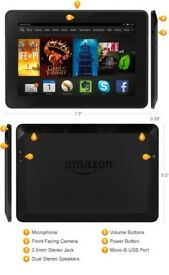 Kindle Fire HDX 3rd Gen with Case