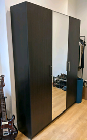 IKEA PAX wardrobe with glass door, shelves and drawers