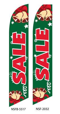 TWO Sale (Holiday Sale) 15 Foot  Swooper Feather Flag -