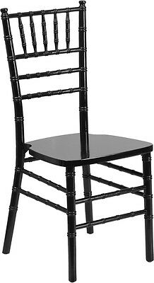 Black Wood Chiavari Chair With Soft Seat Cushion - Stacking Wedding Chair