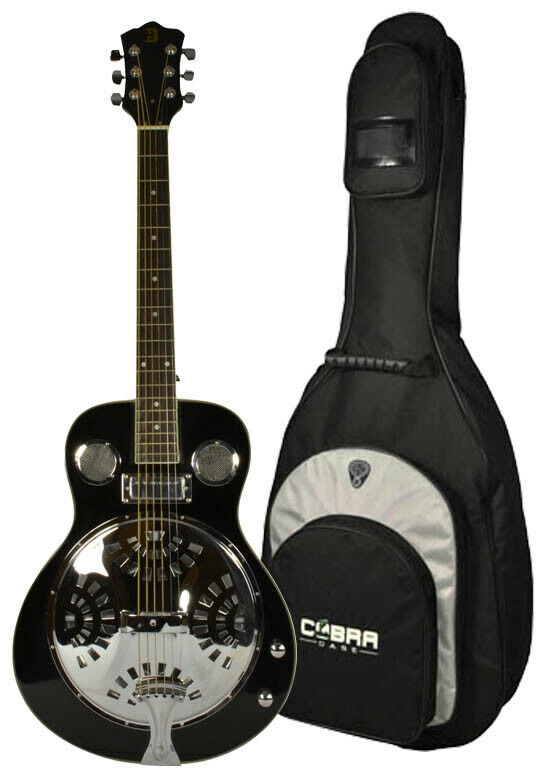 Electro-Acoustic Resonator Guitar with Gig Bag by Bryce