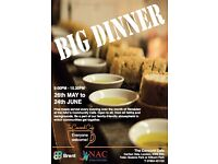 "Volunteering opportunities for the ""Big Dinner Project"""