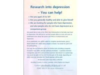 RESEARCH INTO DEPRESSION