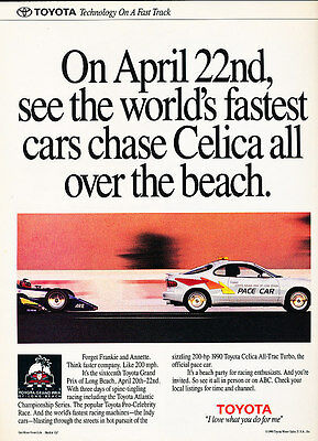 1990 Toyota Celica All-Trac Turbo Pace - Classic Vintage Advertisement Ad D92