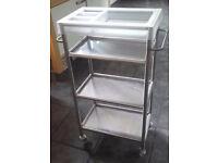 Ikea Racken stainless steel kitchen / utility trolley